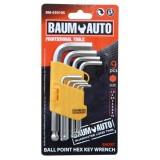 Набор ключей 6-гранных Г-образных коротких с шаром 9пр. BaumAuto BM-03010S (1.5, 2, 2.5, 3, 4, 5, 6, 8,10мм)