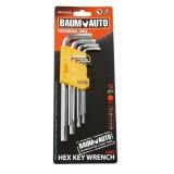 Набор ключей 6-гранных Г-образных длинных 9пр. BaumAuto BM-03025L (1.5, 2, 2.5, 3, 4, 5, 6, 8,10мм)