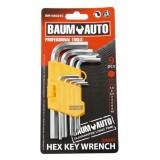 Набор ключей 6-гранных Г-образных коротких 9пр. BaumAutoBM-03025S (1.5, 2, 2.5, 3, 4, 5, 6, 8,10мм)