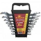 Набор ключей KINGTUL KT-1008MP рожковых 8пр. (6х7-20х22мм) в пласт. держателе