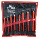 Набор ключей KingTul kraft KT-2008k накидных, отогнутых на 75град.,8пр. (6х7-18х19, 20х22мм)