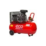 Компрессор ECO AE-1000-22HD двухцилиндровый ременной (2.2 кВт, ресивер 100л, 220В)