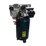 Компрессор Forsage TB265-100(vertical) 100л  2-х поршневой с ременным приводом вертикальный (2.2кВт, ресивер 100л, 250л/м, 220В)
