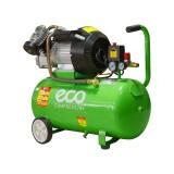 Компрессор ECO AE-502-1 двухцилиндровый (2,2кВт, ресивер 50л, 220В)