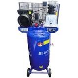 Компрессор Blue Air BA-70A-150V (10bar) двухцилиндровый ременной (2.2кВт, ресивер 150л, 220В)
