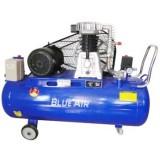 Компрессор Blue Air BA-90A-200 (8bar) двухцилиндровый ременной (5.5кВт, ресивер 200л, 380В)
