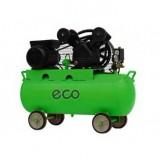 Компрессор ECO AE702 двухцилиндровый ременной (2.2кВт, ресивер 70л, 230В)