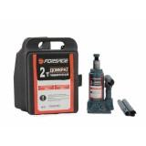 Домкрат бутылочный Forsage T90204S 2 т с клапаном (h min 150мм, h max 278мм) в кейсе