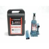 Домкрат бутылочный Forsage T90304S 3 т с клапаном (h min 180мм, h max 350мм) в кейсе