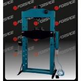 Пресс гидравлический с манометром напольный 75т ручной/пневмо привод Forsage F-75021 (раб. высота:0-1100мм, раб. ширина:800мм, раб. стол:270х800мм,ход штока:280мм)