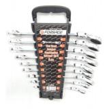 Набор ключей комбинированных трещоточных с шарниром Forasge 51092F 9пр.(8,10,12,13,14,16,17,18,19мм)