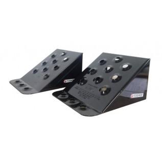 Башмак противооткатный Forsage TRF3555 металлический для грузовых а/м (длина - 230мм, ширина - 200мм, высота - 125мм), к-т 2шт