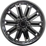 Колпаки колес универсальные Черный металлик / Хром [88-0125G/C] - 15
