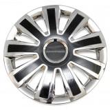 Колпаки колес универсальные Черный металлик / Хром [80-1366G/C] - 16