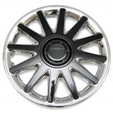 Колпаки колес универсальные Черный металлик / Хром [80-605C/G] - 15