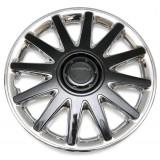 Колпаки колес универсальные Черный металлик / Хром [80-606C/G] - 16
