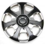 Колпаки колес универсальные Черный металлик / Хром [80-796C/G] - 16