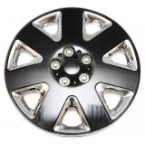 Колпаки колес универсальные Черный металлик / Хром [80-865G/C] - 15