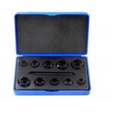 Набор головок-экстракторов Partner PA-7010A для извлечения поврежденных болтов 10пр.   (9,10,11,12,13,14,15,16,17,19мм)