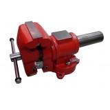 Тиски стальные поворотные Forsage MV6540204 в двух плоскостях  с наковальней + захват для труб 4дюйм. - 100мм