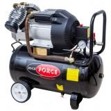 Компрессор 2-х поршневой Rock FORCE RF-V30/50 с прямым приводом (3.0кВт,  8 бар, ресивер 50л, 356л/м, 2850 об/мин,  220В, медная обмотка электродвигателя)